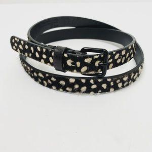 2/$20 GAP Calf Hair Polka Dot Belt